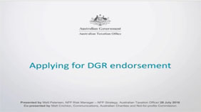 Applying for DGR endorsement