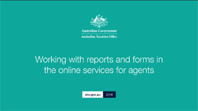 Working with reports and forms in the Online services for agents