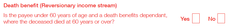 Death benefit (Reversionary) income stream