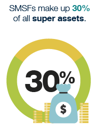 SMSFs make up 30% of all super assets in 2016.